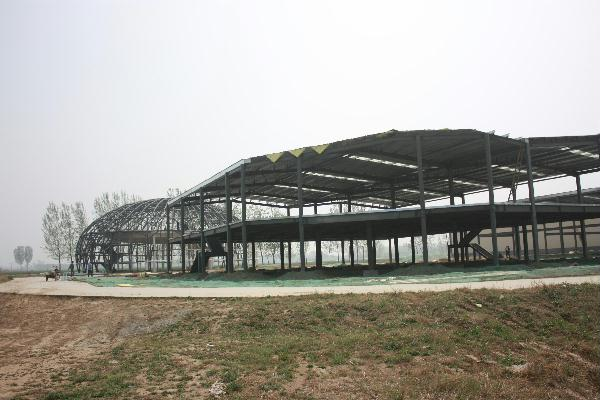 廊坊安次臻味农品农产品展示中心主体钢结构千赢千亿
