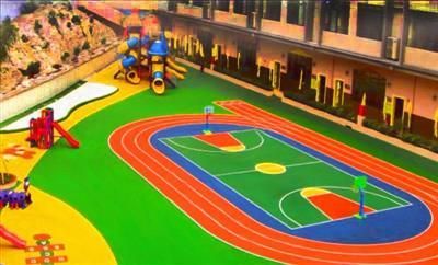 汶上县泗汶小学幼儿园塑胶操场千亿国际开户
