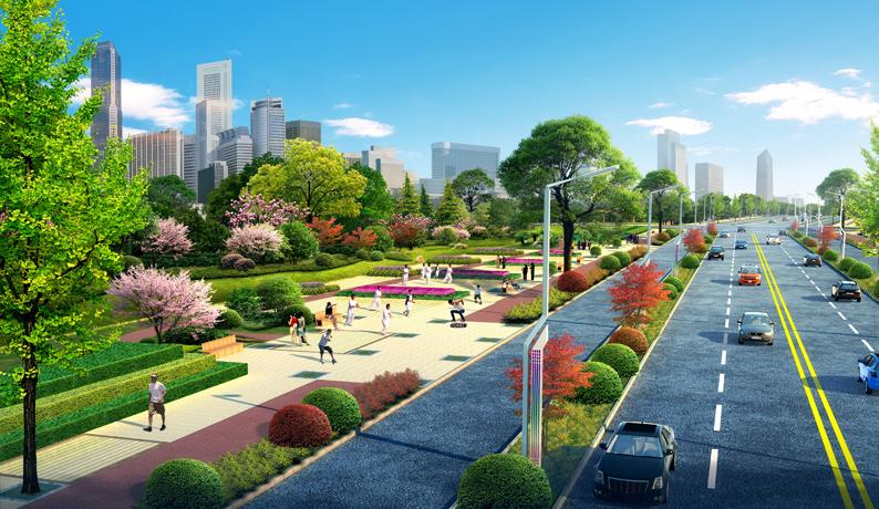 高新区道路绿化千赢千亿监理